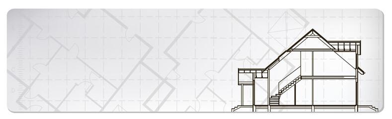 architectural banner. vector illustration