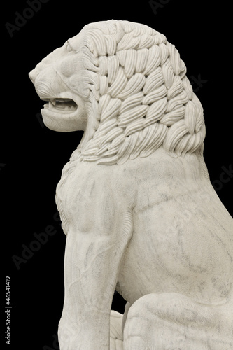 Poster Greek classic era statue showing a lion