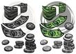 monety banknoty gotówka ilustracja finansowa