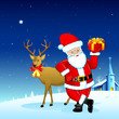 Santa with Gift for Christmas