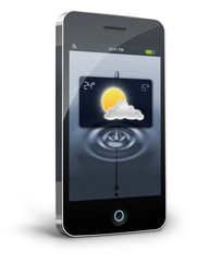 Wheather Widget on Smartphone