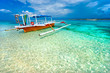 Leinwanddruck Bild - Beautiful sea at Gili Meno, Indonesia.