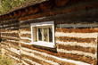 Window in Log Cabin