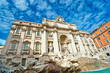 The Famous Trevi Fountain , rome, Italy.