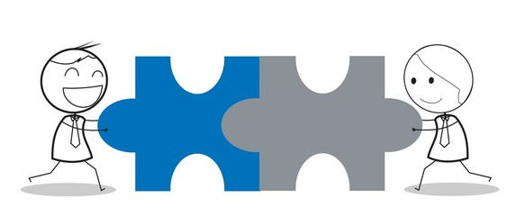 businessman jigsaw