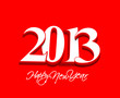 3d New year 2013 background. Vector illustration