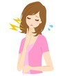 女性 喉の痛み