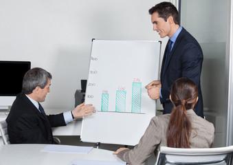 Geschäftsleute diskutieren im Meeting