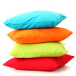 Colorful pillows isolated on white