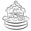 Cartoon cake. eps10