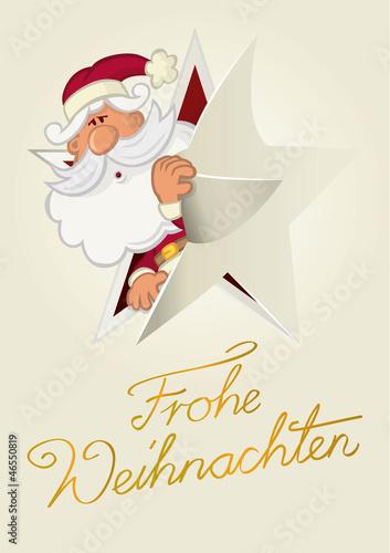 Karte Weihnachtsmann