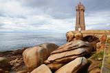 Panoramic view over Pink Granite Coast, France
