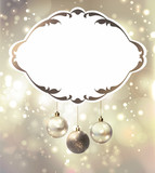 elegant glimmered Christmas poster with evening balls poster