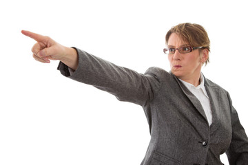 Wut - Frau verärgert und zornig