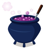illustration of witch's cauldron.Vector