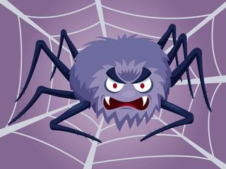 illustration of Cartoon Spider