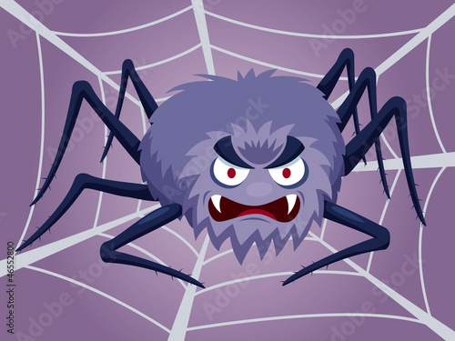 illustration of Cartoon Spider