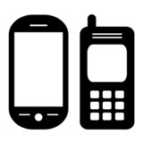 Vector cellphones set
