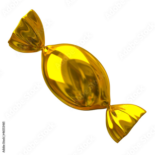 Illustration of golden candy