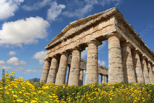 Temple of Segesta, Sicily (Italy), at Springtime