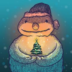 Christmas tree of snowman