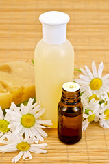 Oil and soap with chamomile