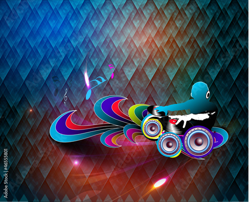 colorful music dj theme