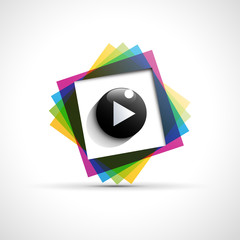 Logo cmyk playback # Vector