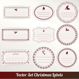 christmas frame set design. vector illustration