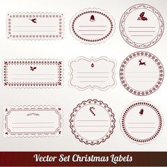christmas frame set design. vector illustration
