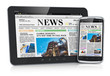 Tablet PC and smartphone with business news - 46557698
