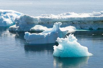 Deffirent forms of icebergs, Antarctica