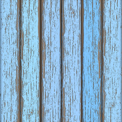 Light-blue old wooden fence