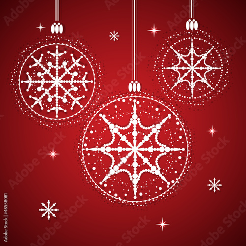 Christmas balls with snowflakes