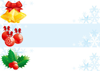 vector banners with christmas  decorations