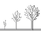 Fototapety Vector growth concept. Tree made of arrows