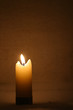 Closeup of burning candles