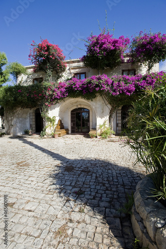 europe, italy, sicily, scicli, beautiful villa in country