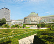 Historical Botanique garden in center of Brussels