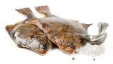 Flounder with salt poster