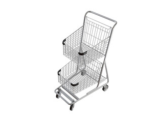 Shopping cart. 3D isolated