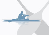 Rowing background - vector illustration