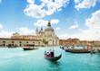 Leinwandbild Motiv Grand Canal and Basilica Santa Maria della Salute, Venice, Italy