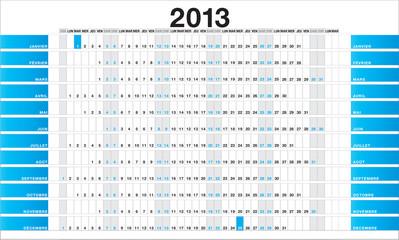 Planner 2013 blue - FR