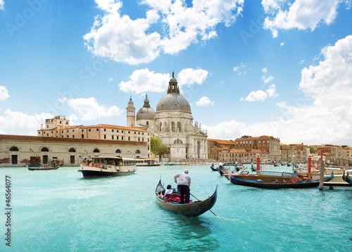 Grand Canal and Basilica Santa Maria della Salute, Venice, Italy - 46564077