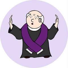 Ksiądz odprawiający mszę