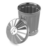 3d Garbage bin top view open