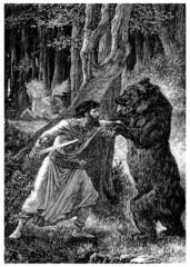 Fighting against a Bear - Combat contre un Ours