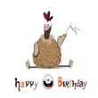 Happy Birthday chicken and egg