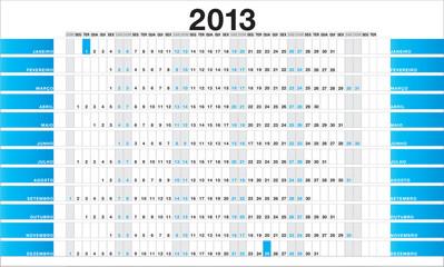 Planner 2013 blue - PT